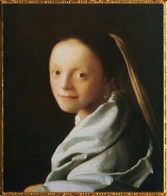 D'après un Portrait d'une Jeune Femme, Johannes Vermeer, 1666-1667 apjc. (Marsailly/Blogostelle)