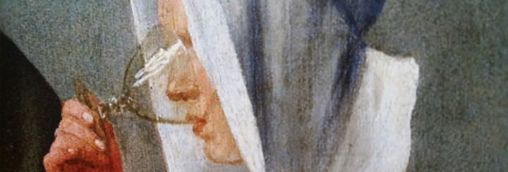 D'après Le Verre de Vin, détail, Johannes Vermeer, 1660-1661. (Marsailly/Blogostelle)