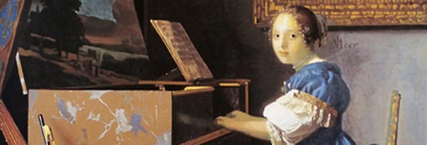 D'après La Dame assise au Virginal, Johannes Vermeer, vers 1675 IVMeer. (Marsailly/Blogostelle)
