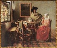 D'après Le Verre de Vin, Johannes Vermeer, 1660-1661. (Marsailly/Blogostelle)