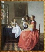 D'après La Jeune Fille au Verre de Vin, Johannes Vermeer, 1659-1660, IVM. (Marsailly/Blogostelle)