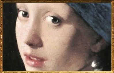 D'après La Jeune Fille à la Perle, détail, Johannes Vermeer, 1665-1666, IVMeer. (Marsailly/Blogostelle)