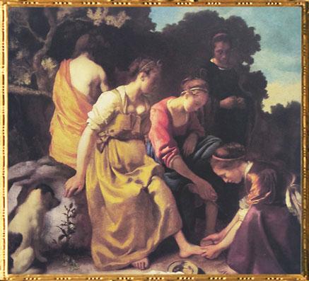 D'après Diane et ses Compagnes, Johannes Vermeer, 1655-1656, IVMeer La Haye. (Marsailly/Blogostelle)