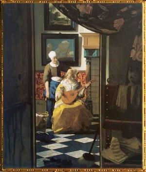 D'après La Lettre d'Amour, Johannes Vermeer, 1669-1670, IVMeer. (Marsailly/Blogostelle)