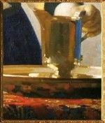 D'après La Jeune Femme à l'Aiguière, détail des reflets, Johannes Vermeer, 1664-1665. (Marsailly/Blogostelle)
