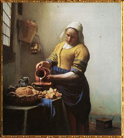 D'après La Laitière, Johannes Vermeer, 1658-1660. (Marsailly/Blogostelle)