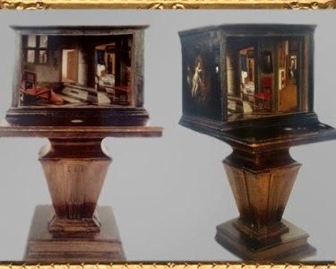D'après La Boîte à Perspective, de Samuel van Hoogstraten, 1655-1660. (Marsailly/Blogostelle)