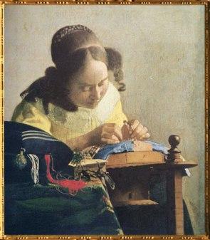 D'après La Dentellière, Johannes Vermeer, 1669-1670, IVMeer. (Marsailly/Blogostelle)
