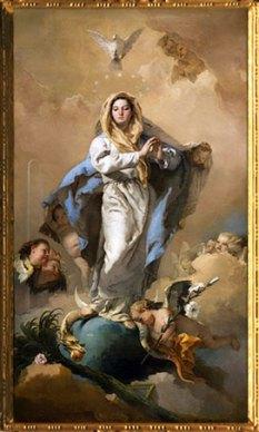 D'après L'Immaculée Conception, Giovanni Battista Tiepolo, 1767-1768, XVIIIe siècle. (Marsailly/Blogostelle)