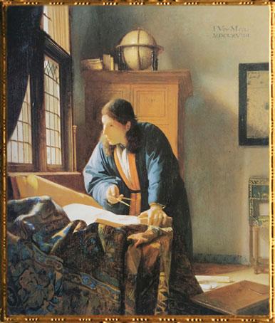 D'après Le Géographe, Johannes Vermeer, 1668-1669, IVMeer. (Marsailly/Blogostelle)