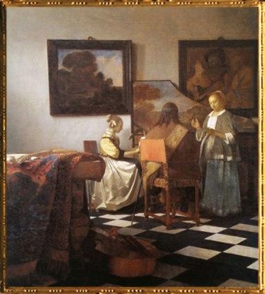 D'après Le Concert, Johannes Vermeer, 1665-1666. (Marsailly/Blogostelle)