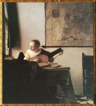 D'après La Femme au luth, Johannes Vermeer, 1664. (Marsailly/Blogostelle)