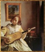 D'après une Femme jouant de la guitare, Johannes Vermeer, 1671-1672. (Marsailly/Blogostelle)