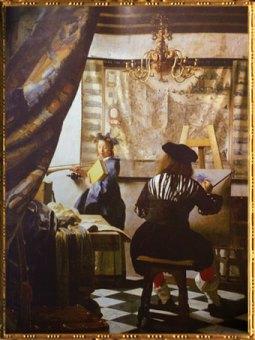 D'après L'Art de la Peinture, Johannes Vermeer, 1666-1667. (Marsailly/Blogostelle)