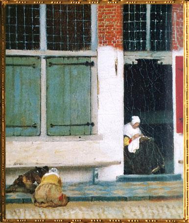 D'après La Ruelle, détail, Johannes Vermeer, 1657-1658, IVMeer. (Marsailly/Blogostelle)