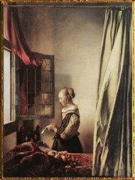 D'après La Liseuse à la Fenêtre, Johannes Vermeer, 1657. (Marsailly/Blogostelle)