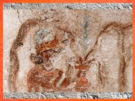 D'après la Déesse au Vase Jaillissant, palais de Mari, Investiture du roi Zimri-Lim, détail, vers 1775 avjc -1760 avjc, actuelle Syrie, Mésopotamie (Marsailly/Blogostelle)