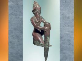 D'après un clou de fondation de Gudea, prince de Lagash, cuivre, vers 2130 avjc, Girsu-Tello, époque néo-sumérienne, Mésopotamie (Marsailly/Blogostelle)