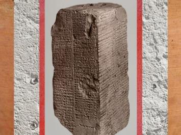 D'après la Liste Royale Sumérienne, prisme de Weld-Blundell, cunéiforme, vers 1800 avjc, Larsa, Babylonie. (Marsailly/Blogostelle)