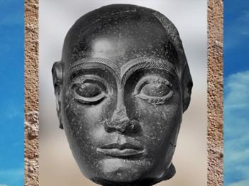 D'après Gudea tête nue, diorite, vers 2100 avjc, époque néo-sumérienne, Mésopotamie. (Marsailly/Blogostelle)
