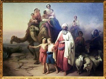D'après Le Voyage d'Abraham d'Ur à Canaan, Jozsef Molnar, 1850 apjc. (Marsailly/Blogostelle)