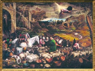 D'après Le Départ d'Abraham pour Canaan, Jacopo et Francesco Bassano, vers 1570-1571 apjc. (Marsailly/Blogostelle)