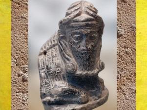 D'après un taureau anthropomorphe avec dédicace de Gudea, prince de Lagash, vers 2125-2110, époque néo-sumérienne, sculpture en chlorite, Mésopotamie. (Marsailly/Blogostelle)