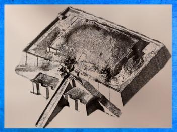 D'après les vestiges de la ziggurat d'Ur, époque d'Ur-Nammu, vers 2100 avjc, Troisième dynastie d'Ur, actuel Irak, Mésopotamie. (Marsailly/Blogostelle)