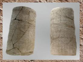 D'après les Cylindres de Gudea, écriture cunéiforme, terre cuite, vers 2120 avjc, Girsu, Tello, époque néo-sumérienne, Mésopotamie (Marsailly/Blogostelle)