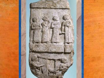 D'après une stèle dite de la Musique, époque de Gudea, prince de Lagash, vers 2120 avjc, Girsu-Tello, époque néo-sumérienne, Mésopotamie. (Marsailly/Blogostelle)