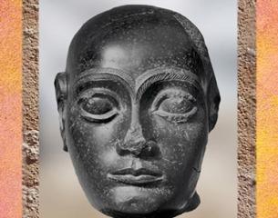 D'après Gudea tête nue, diorite vers 2100 avjc, époque néo-sumérienne, Mésopotamie. (Marsailly/Blogostelle)