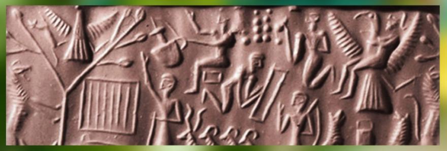 D'après la légende du roi Etana de Kish, sceau, vers 2400-2200 avjc, Agadé, Mésopotamie. (Marsailly/Blogostelle)
