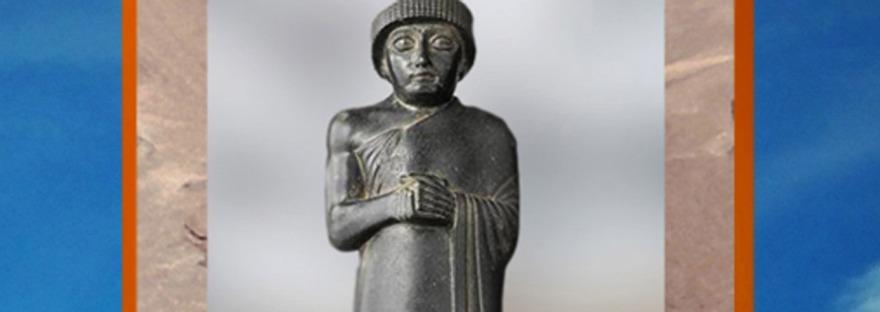 D'après Gudea intemporel, prince de Lagash, vers 2120 avjc, néo-Sumer. (Marsailly/Blogostelle)