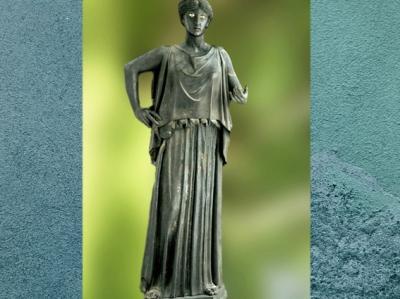 D'après une Danaïde, statue en bronze, Villa des Papyrus, Herculanum, Ier siècle apjc (avant 79, Vésuve ), Naples, Art Romain. (Marsailly/Blogostelle)