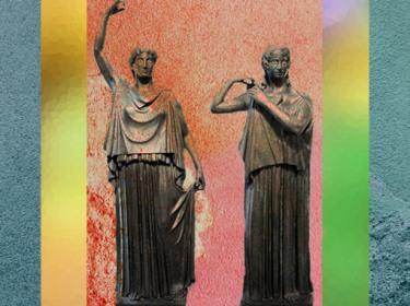 D'après deux Danaïdes, Herculanum, (avant 79 apjc), Naples, art Romain. (Marsailly/Blogostelle)