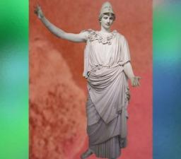 D'après statue colossale d'Athéna, dite Pallas de Velletri, vers Ier siècle apjc, art Romain, copie d'un bronze crétois de Crésilas, vers 430 avjc. (Marsailly/Blogostelle)