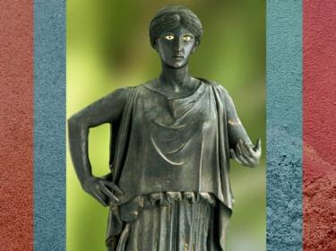 D'après uneDanaïde, statue en bronze, Villa des Papyrus, Herculanum, Ier siècle apjc (avant 79, Vésuve ), Naples, Art Romain. (Marsailly/Blogostelle)
