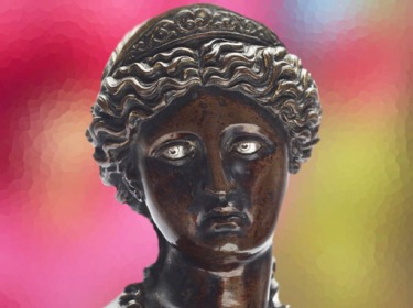 D'après une statue en bronze, copie romaine du thème original grec dit Vénus pudique, Antico, 1460–1528 apjc Naples. (Marsailly/Blogostelle)