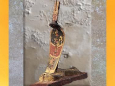 D'après Ouadjet, coiffée de la couronne rouge du Nord, déesse-cobra de la Basse-Egypte, bois peint, vers 664 - 332 avjc, Basse Époque. (Marsailly/Blogostelle)