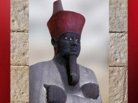 D'après la Couronne Rouge de Basse-Egypte, Mountouhotep II, vers 2010 - 1998 avjc, XIe dynastie, Moyen Empire, Égypte ancienne. (Marsailly/Blogostelle)