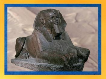 D'après le Sphinx de Tanis en granit, une sculpture qui remonte peut-être à l'Ancien Empire, vers 2600 avjc, Égypte ancienne. (Marsailly/Blogostelle)