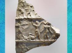 D'après une stèle de Victoire, vers 2300-2250 avjc, période d'Agadé, antique Girsu, actuel Tello, Mésopotamie. (Marsailly/Blogostelle)
