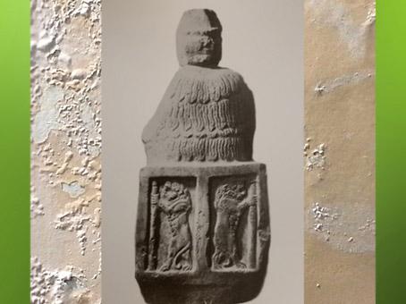 D'après la déesse Narundi, et lions, statue vouée par le roi Puzur-Inshushinak, vers 2100 avjc, époque néo-summérienne, Suse, Iran Ancien. (Marsailly/Blogostelle)