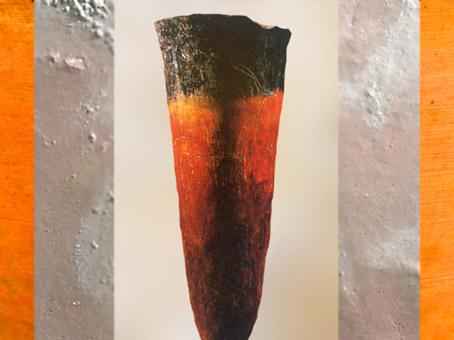 D'après un vase en terre cuite, engobe rouge à bord noir, décor gravé, vers 4000-3500 ans avjc, période de Nagada, Égypte ancienne. (Marsailly/Blogostelle)