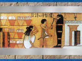 D'après la momie réanimée par le prêtre, Livre des Morts de Nebqued, papyrus peint, vers 1400 avjc, Nouvel Empire,Égypte ancienne. (Marsailly/Blogostelle)