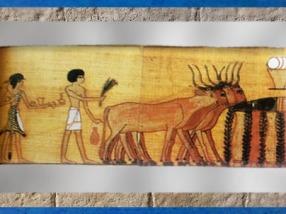 D'après la procession et offrandes, Livre des Morts de Nebqued, papyrus peint, vers 1400 avjc, Nouvel Empire,Égypte ancienne. (Marsailly/Blogostelle)