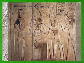D'après Osiris souverain de l'au-delà, Isis, Nephtys, Horus et Thot chapelle funéraire d'Amenhotep, XIXe dynastie, Saqqarah, Égypte ancienne. (Marsailly/Blogostelle)