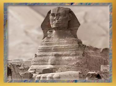 D'après le sphinx de Gizeh, près de la pyramide de Khépren, roi de la IVe dynastie sous l'Ancien Empire. (Marsailly/Blogostelle)