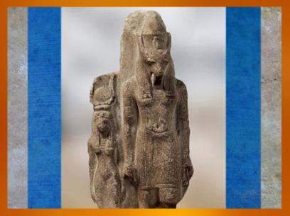 D'après le dieu Seth, à tête d'animal à longues oreilles, et Nephthys, statuette en pierre, époque Ramsès II, vers 1279 - 1213 avjc, XIXe dynastie, Nouvel Empire, Égypte ancienne. (Marsailly/Blogostelle)