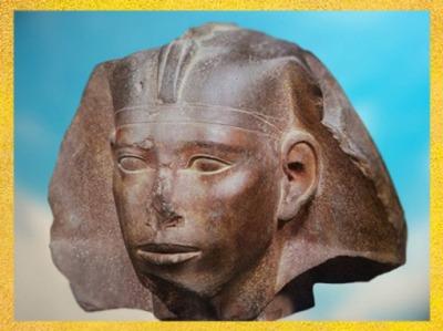 D'après le pharaon Didoufri, à tête de sphinx, vers 2565 - 2558 avjc, IVe dynastie, Ancien Empire, Égypte ancienne. (Marsailly/Blogostelle)